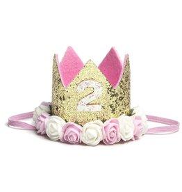 Sweet Wink Gold Blush #2 Flower Crown