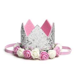 Sweet Wink Silver Flower Crown