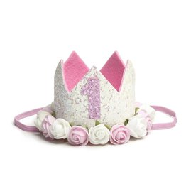 Sweet Wink White #1 Flower Crown
