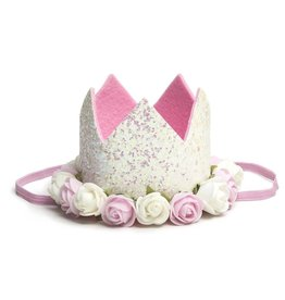 Sweet Wink White Flower Crown