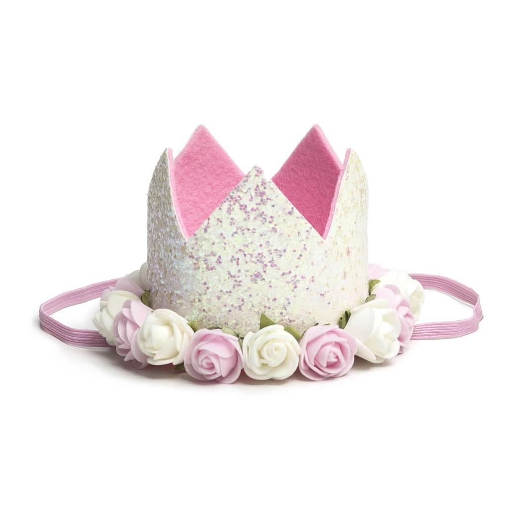 White flower crown hipbabygear sweet wink white flower crown mightylinksfo