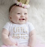 Sweet Wink Gold Blush Flower Crown