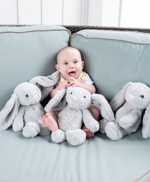 Little Buds The Xander Bunny Warm Lavender Comfort Plush