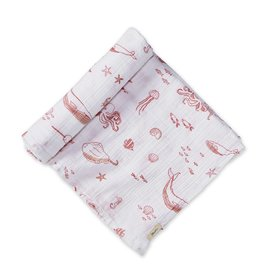 Pehr Designs Life Aquatic Swaddle- Grapefruit