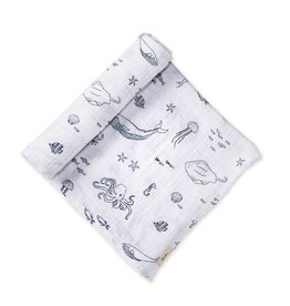 Pehr Designs Life Aquatic Swaddle- Marine