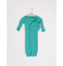 Modern Burlap Organic Knot Hat + Gown Set- Arcadia