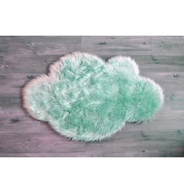 Kroma Carpets Faux Sheepskin Cloud Mint Rug