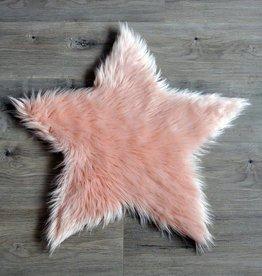 Kroma Carpets Faux Sheepskin Star Blush Rug Large