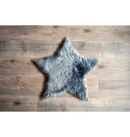 Kroma Carpets Faux Sheepskin Star Grey Rug Small