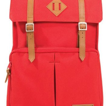 WILLLAND OUTDOORS FORTUNA SQUARE BACKPACK, RED