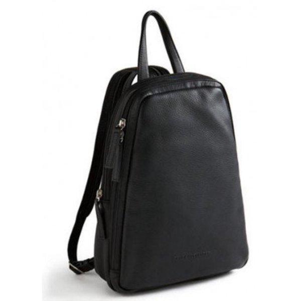 Derek Alexander Ns Small Leather Backpack Sling Black Cp 8666