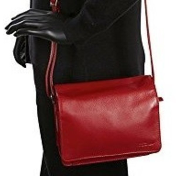 Derek Alexander Full Flap Leather Organizer Red Cp 8767