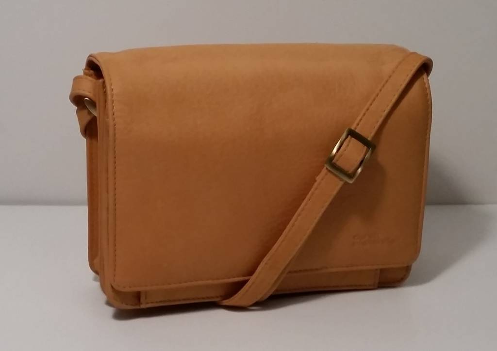 Derek Alexander Leather 3 4 Flap Organizer Bag Buff Fb 1978