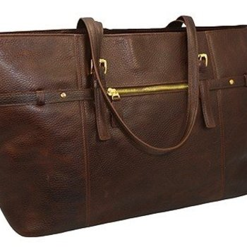 MOSAIC CLASSICO LEATHER TOTE, BRANDY (668-1505)