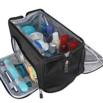 RICARDO GROOMER WIDE-MOUTH TOILETRY KIT (R3711L-BLACK)