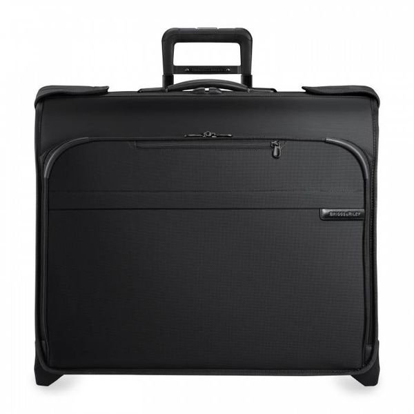 BRIGGS & RILEY BASELINE DELUXE WHEELED GARMENT BAG, BLACK (U176)