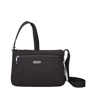 BESIDE U STEPH SHOULDER BAG W/ RFID POCKET (BER08) BLACK