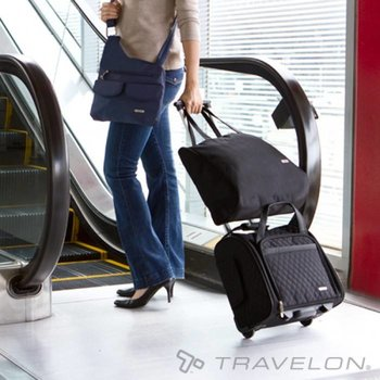 TRAVELON WHEELED TOTE W/BACK-UP BAG (6454)