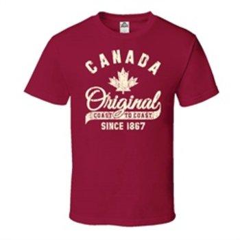 STONE AGE CANADA ORIGINAL TEE, CARDINAL
