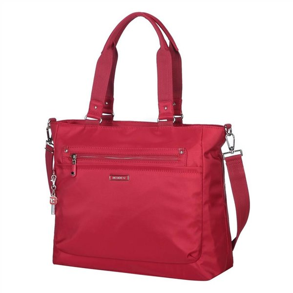 BESIDE U FONTANA NUTOPIA LEATHER TRIM TOTE (BNUL12A