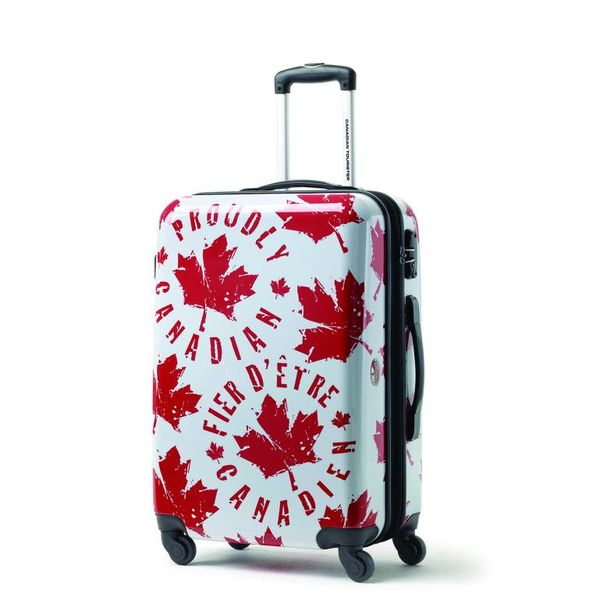 CANADIAN TOURISTER CANADIAN COLLECTION SPINNER MEDIUM EXP PROUD LEAF RED/WHITE