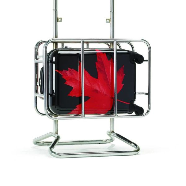 CANADIAN TOURISTER CANADIAN COLLECTION SPINNER CARRY-ON MAPLE LEAF RED/BLACK