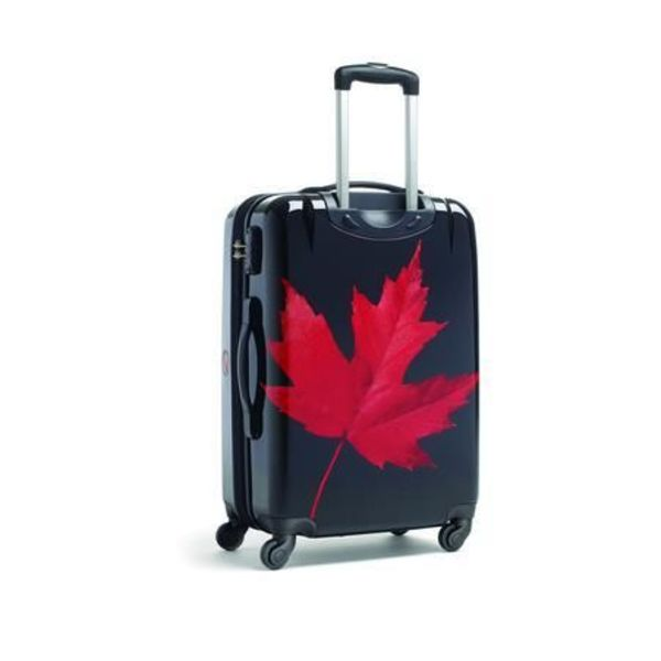CANADIAN TOURISTER CANADIAN COLLECTION SPINNER MEDIUM MAPLE LEAF RED/BLACK
