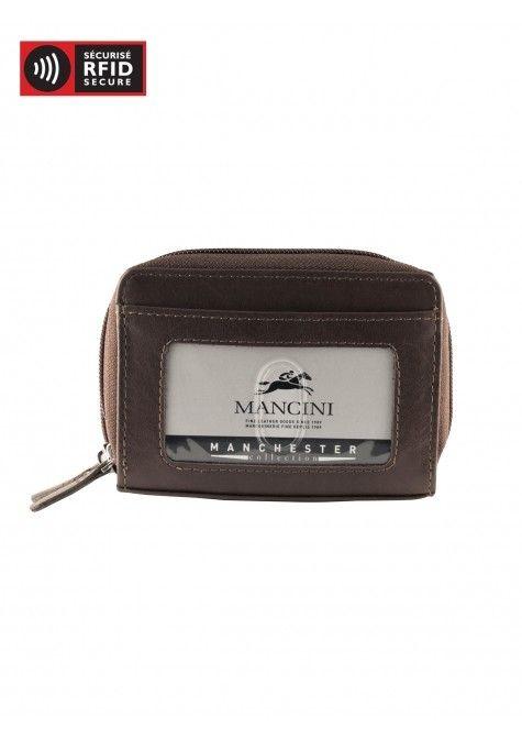 mancini rfid accordian credit card case with change pocket and belt loop 2010115 urban traveller. Black Bedroom Furniture Sets. Home Design Ideas
