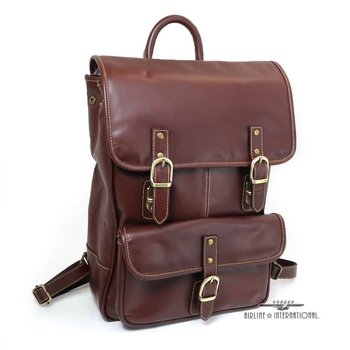 MOSAIC LEATHER BACKPACK, BROWN (773-1703-BN)