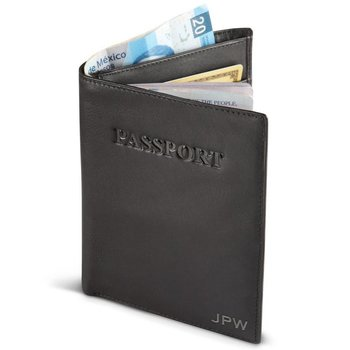 MOSAIC PASSPORT WALLET RFID PROTECTED, BLACK (667-32302-BK)