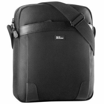 DEREK ALEXANDER N/S TOP ZIP SHOULDER BAG BLACK (PW-20701)