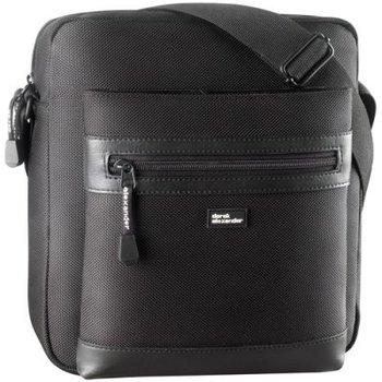 DEREK ALEXANDER TOP ZIP SHOULDER BAG BLACK (PW-20700)