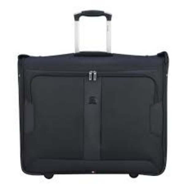 "Delsey VOLUME MAX 42"" TROLLEY GARMENT BAG BLACK"