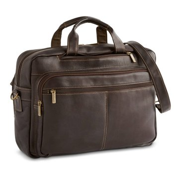 MOSAIC DAYTREKR LEATHER CONVERTIBLE BRIEF/BACKPACK (771-1704-BN)