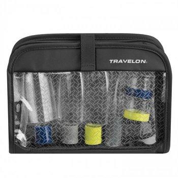 TRAVELON WET-DRY 1 QUART BAG W/ BOTTLES (11024), BLACK