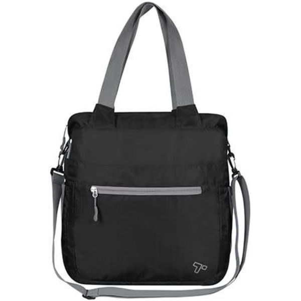 TRAVELON PACKABLE CROSSBODY  TOTE (42815) BLACK