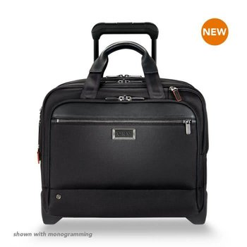 BRIGGS & RILEY @WORK MEDIUM 2-WHEEL EXPANDABLE BRIEF, BLACK (KR420X-4)