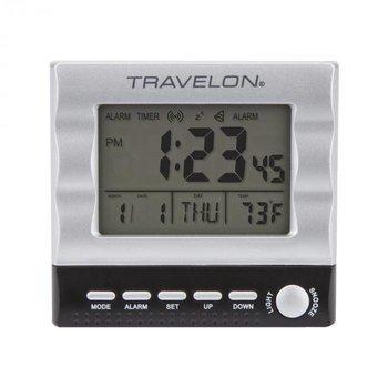 TRAVELON TRAVEL ALARM CLOCK, SILVER (12654)