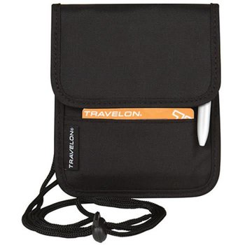 TRAVELON ID AND BOARDING PASS HOLDER W/SNAP CLOSURE BLACK (42764)