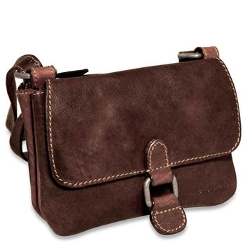 Jack Georges VOYAGER MINI CROSSBODY BAG, BROWN (7610)