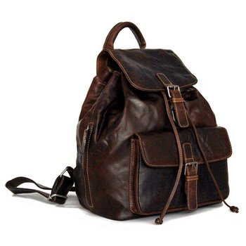 Jack Georges VOYAGER DRAWSTRING BACKPACK, BROWN (7517)