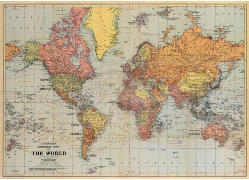 World map poster gift and homewares online shop based in townsville world map poster gumiabroncs Gallery