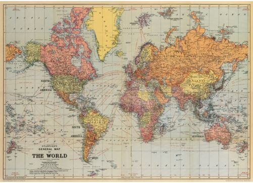 World map poster gift and homewares online shop based in townsville world map poster world map poster gumiabroncs Images