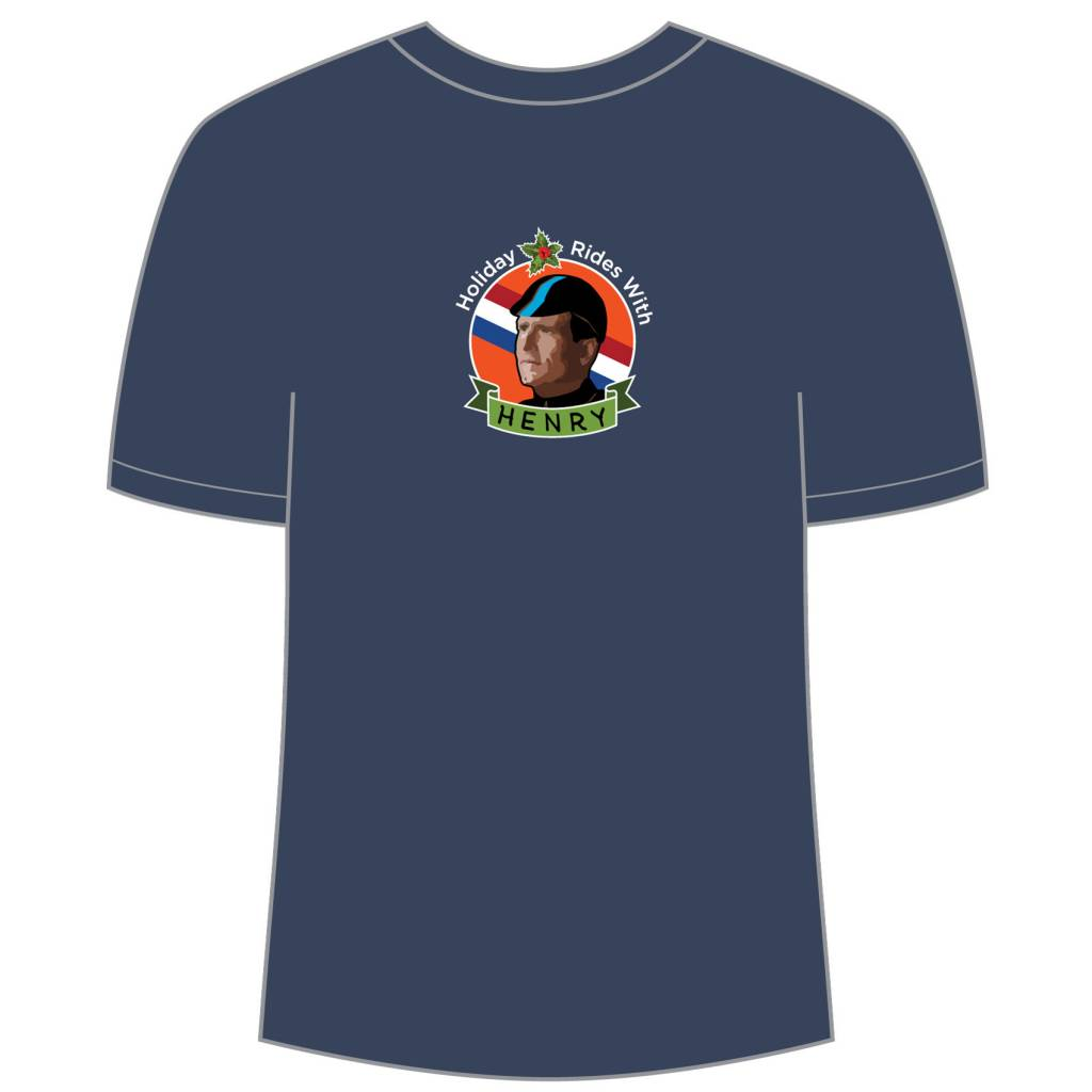 Ride Studio Cafe Holiday Rides with Henry Dark Blue T-Shirt