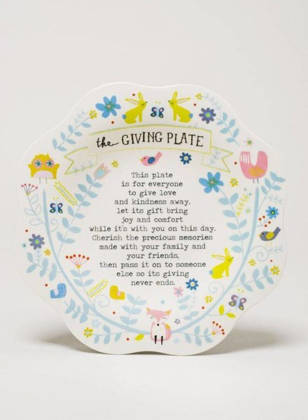 Rabbit Owl Giving Plate