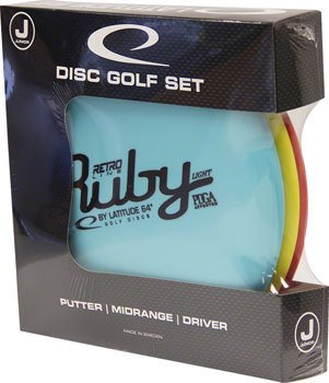 Latitude 64 Retro Junior Starter Disc Golf Set: Assorted Colors