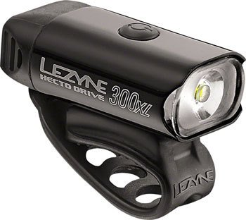 Lezyne Hecto Drive 300XL, 300 Lumen USB Rechargeable Headlight: Black