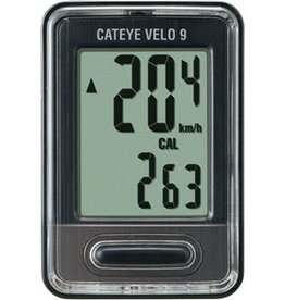 CatEye Velo 9, 9 Functions Wired Cycling Computer CC-VL820: Black