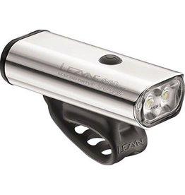 Lezyne Macro Drive 600XL, 600 Lumen USB Rechargeable Headlight: Silver
