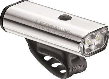 Lezyne Macro Drive 600XL, 600 Lumen USB Rechargeable Headlight: Silver